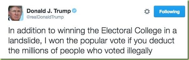 trump illegal popular votes