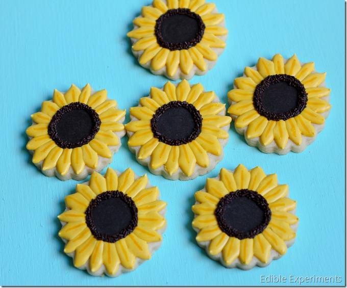 Frozen Fever Sugar Cookies-Sunflowers