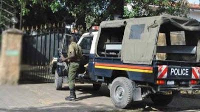 Duncan Mugambi photos beaten by Police in Voi.