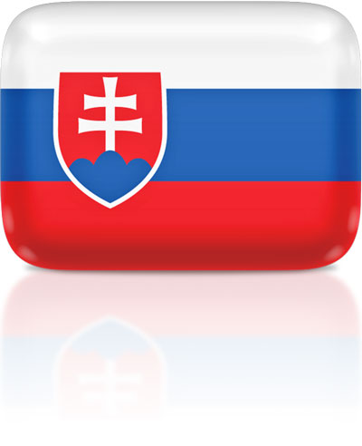 Slovak flag clipart rectangular