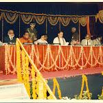 Nov 1987 Dedication of CCMB Frqancis Crick, MGK Menon, N T Rama Rao (CM, AP), Kumudben Joshi (Gov, AP) , Rajv Gandhi, K R Narayanan, PMB, Mitra, MR Srinivasan.jpg
