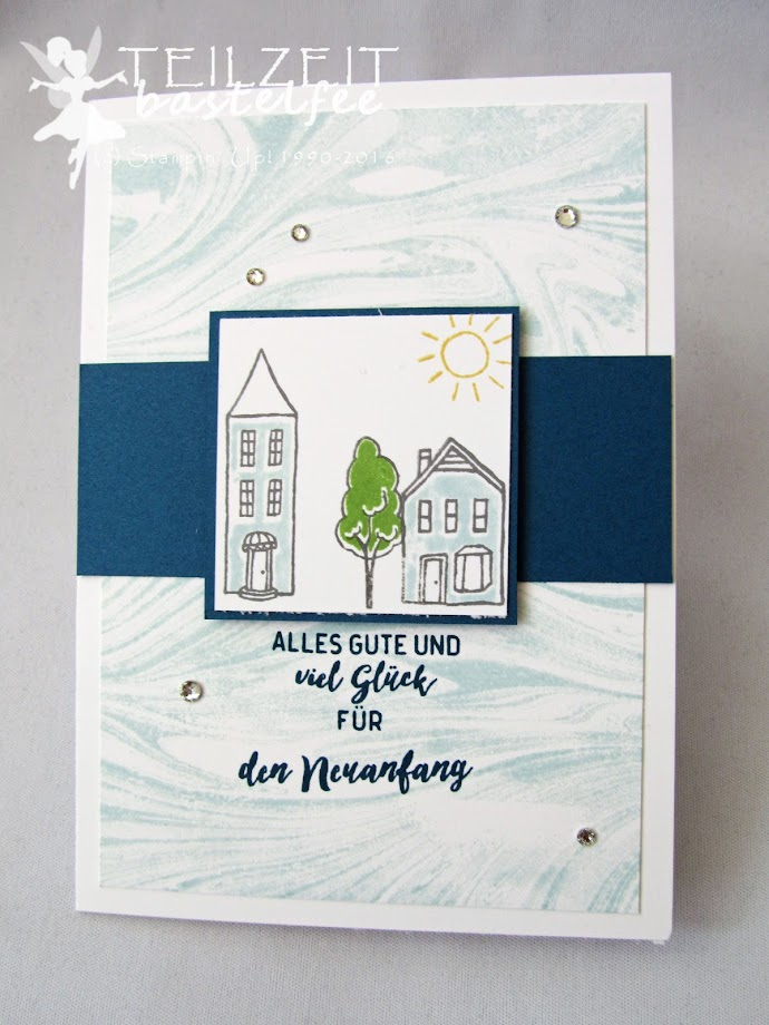 Stampin' Up! – In{k}spire_me #314, Sketch Challenge, In the City, Stadt Land Gruß, Einzug, New Home, Marbled Background