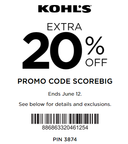 Kohl's coupon 20% off any purchase