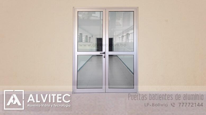 Puerta de aluminio estilo batiente