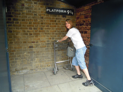 Platform 9 3/4. From best walking tours in London - the Harry Potter tour!
