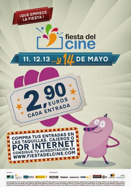 Fiesta del Cine 2015, los días 11, 12, 13 y 14 de mayo a 2.90€ cada entrada