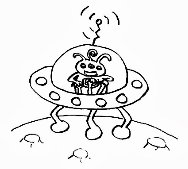Dibujos de naves espaciales para colorear - Dessin extra terrestre ...