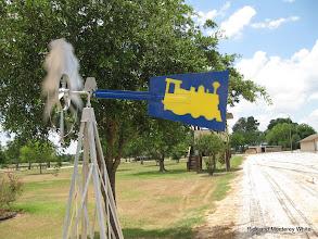 Photo: Train on windmill.  HALS 2009-0620
