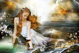 Little Girl On Seaside