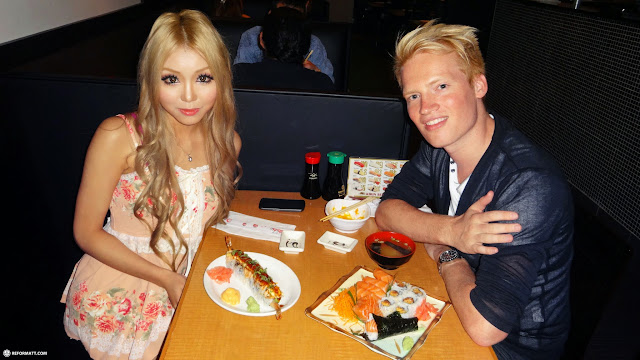 SushiXtra dinner with my Gyaru friend from Vancouver in Toronto in Toronto, Ontario, Canada