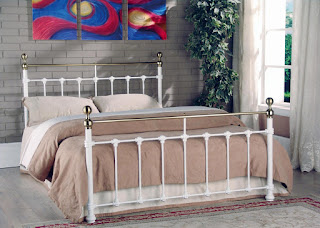 Superb LB metal bed frame available in white or black