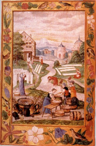 Women Washing Clothes From Splendor Solis, Hermetic Emblems From Manuscripts 1