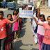 गिद्धौर : कन्या मध्य विद्यालय की छात्राओं ने बिहार दिवस पर निकाली रैली