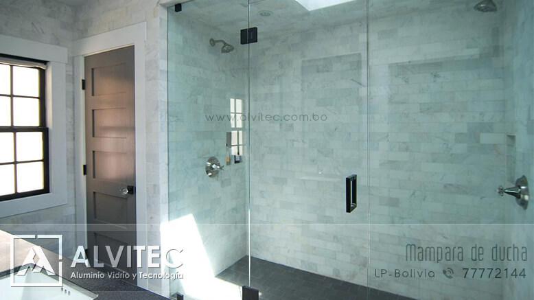 Mampara de ducha con vidrio templado