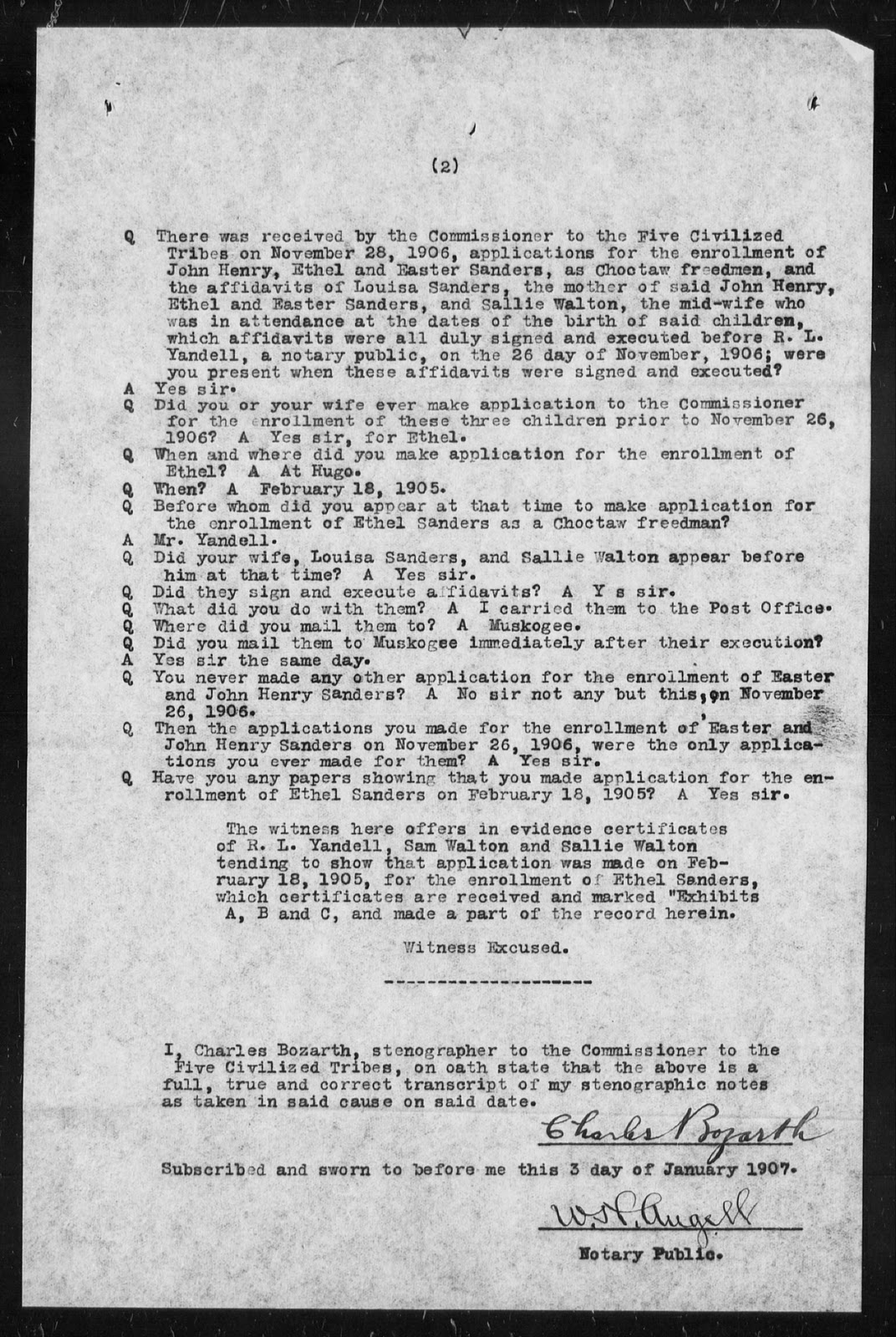 The african native american genealogy blog the minor newborn page 1 of george sanders testimony for his children aiddatafo Choice Image