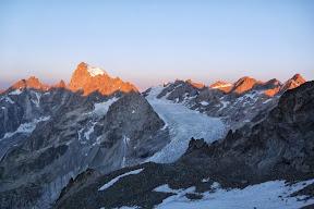 Le bassin du glacier Blanc depuis les Dômes de Mônetier