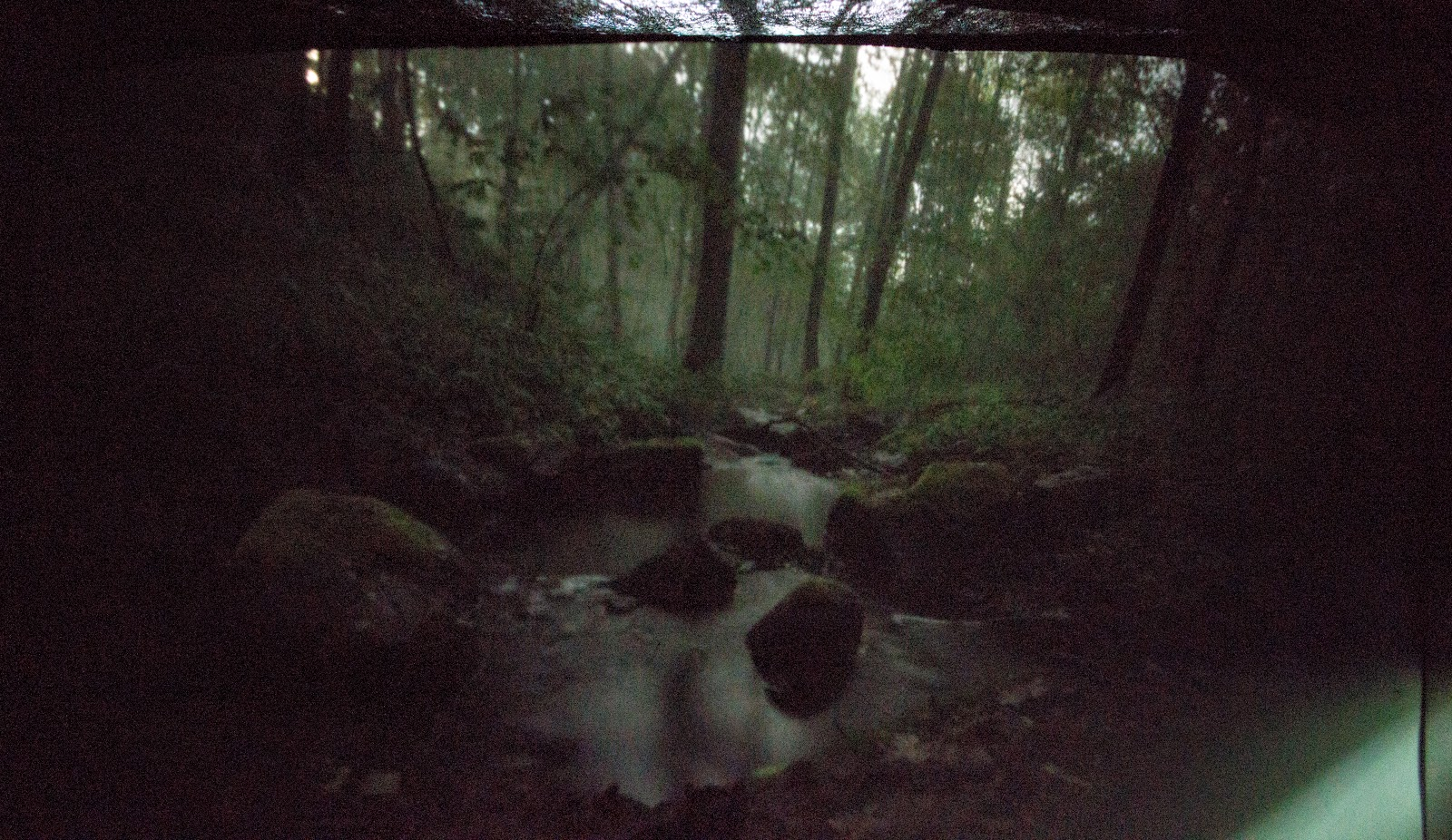 Pinhole, струмок, річка, яр, вода, ліс