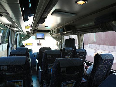 名鉄バス「名古屋~新潟線」 2607 車内 その2