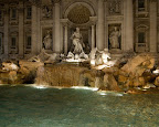 "Night at Fontana di Trevi - ""Trevi Fountain"" - Rome"
