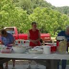 Ladies from Crockett United Methodist Church serve us a picnic lunch.