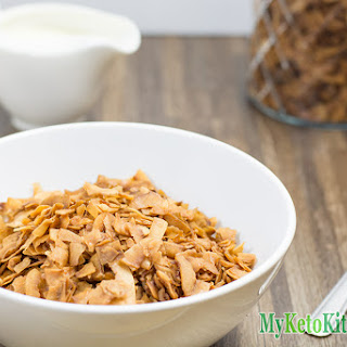 Low Carb Coconut Frosted Flakes Cereal.