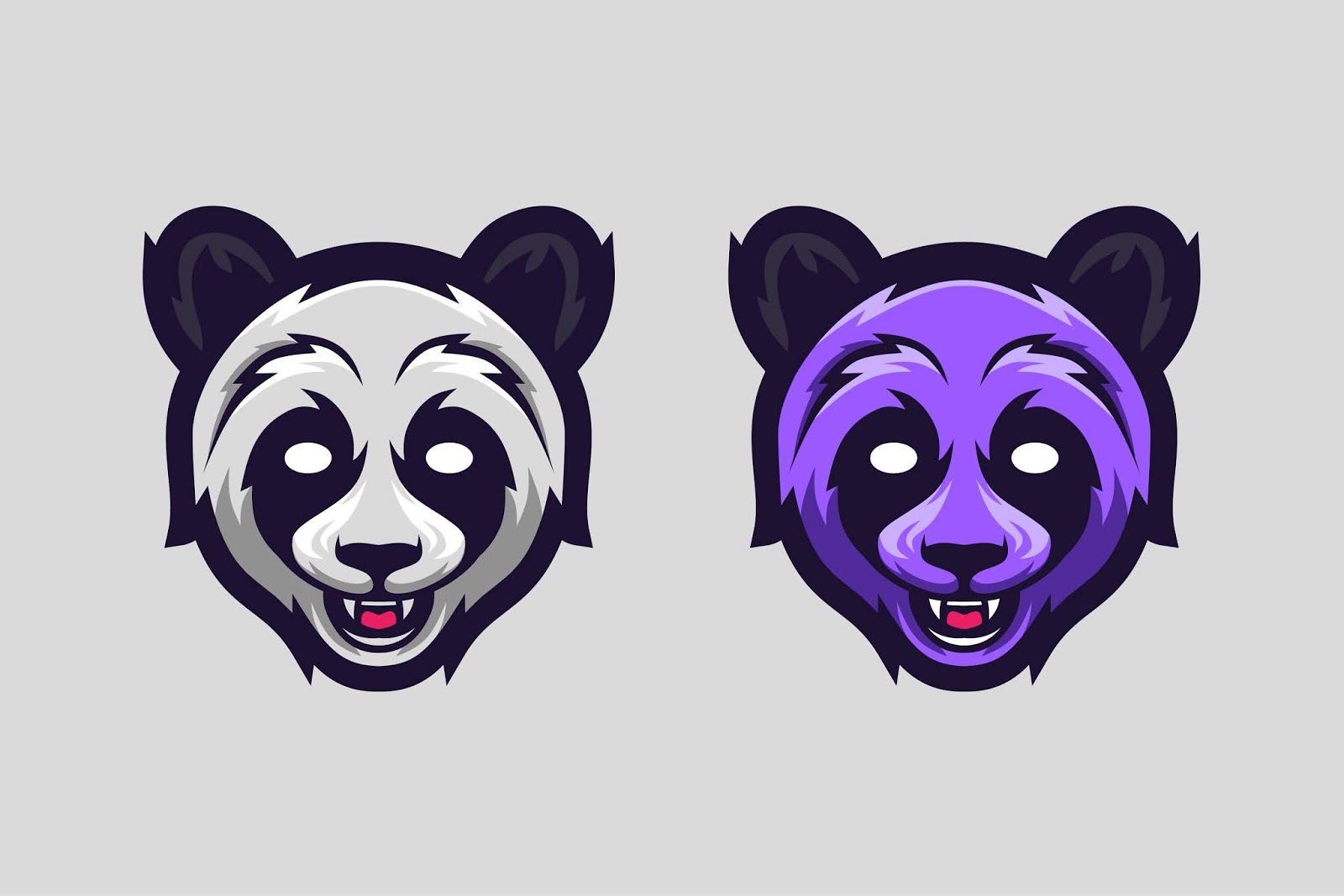 Panda Mascot Logo Option Color Free Download Vector CDR, AI, EPS and PNG Formats