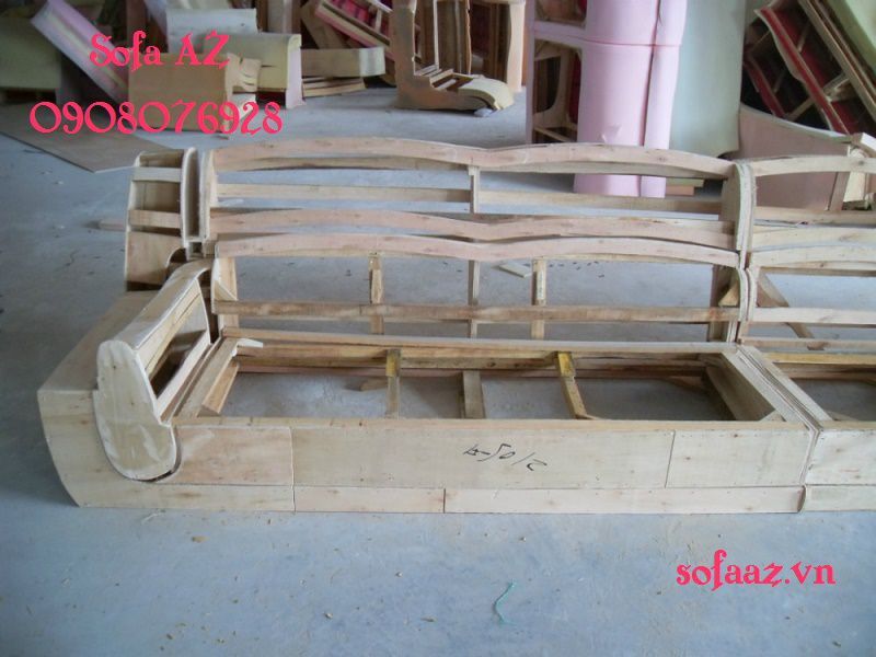 Đóng ghế sofa gỗ cao cấp, đóng ghế da bò quận 2
