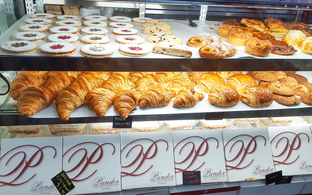 photo of the pastry display case