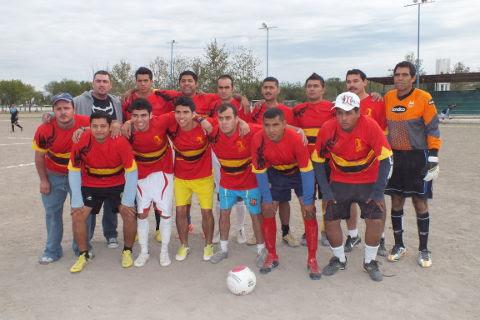 Equipo Yaquis del torneo de primera fuerza de la Liga Municipal de Futbol Soccer