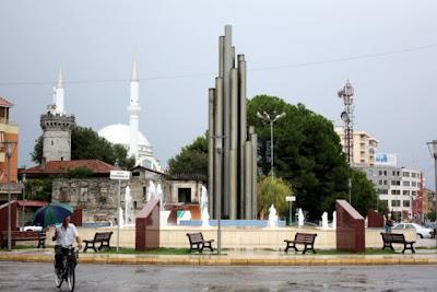 Roundabout in Shkodra Albania