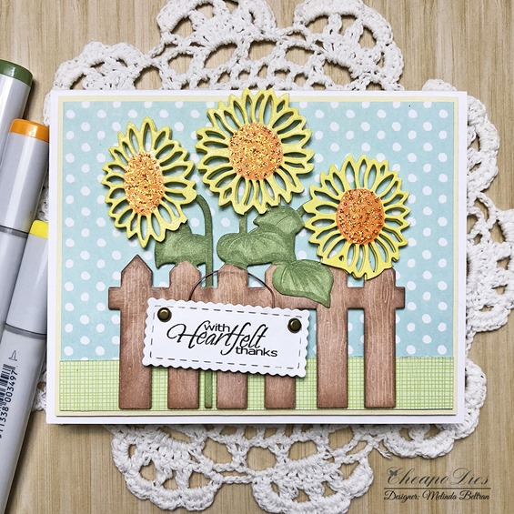 sunflower fence card