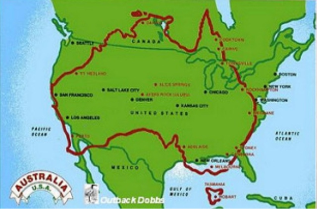 The Land Area Nearly Equals Usa At 3 Million Square Miles It Dwarfs S Nz Neighbor 103 400