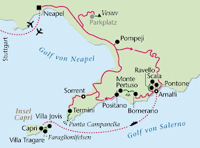 Amalfiküste, Wanderreise, Heideker Reisen, Amalfi, Insel Capri, Capri, Enzo Liuccio, Mühlental, Ravello, Villa Rufolo, Weg der Götter, Positano, Pompeji, Vesuv, Sorrent