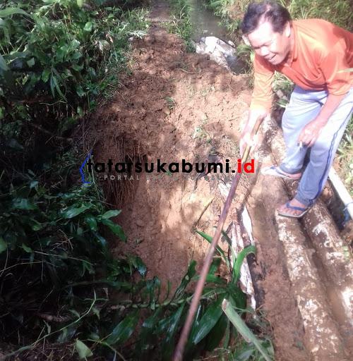 Longsor Jebol Irigasi di Cipeteuy Kabandungan, 7 Hektare Lahan Terancam