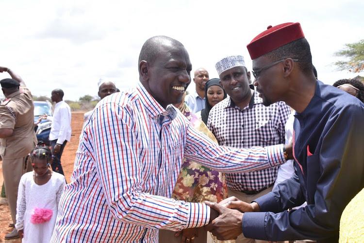Deputy President William Ruto with Kimilili MP Didmus Barasa