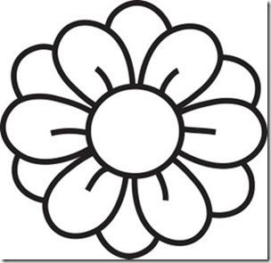 flore sencillas para colorear  (3)