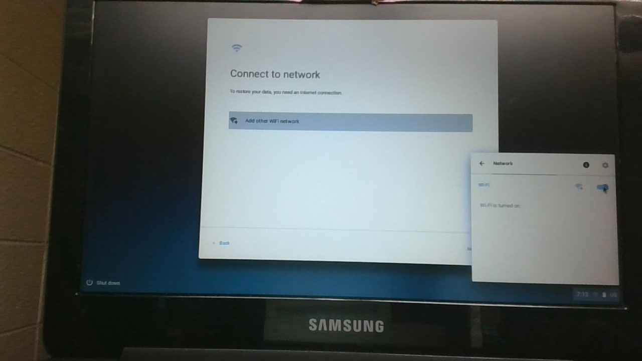 Wifi is on but will not find wireless networks  - Chromebook
