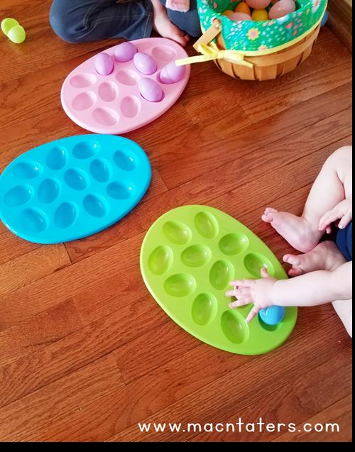 Easter Egg Tray Sort