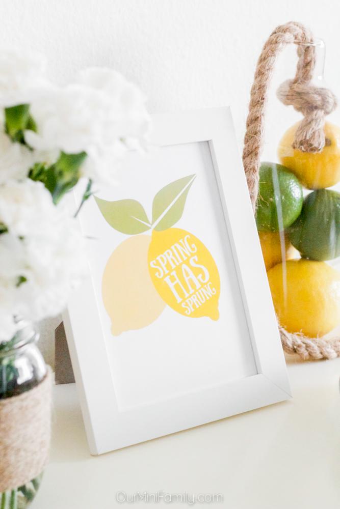 spring lemon tablescape