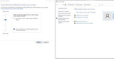 Cách tắt UAC trên Windows 10