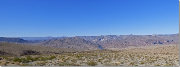 Driving by Colorado River south of Lake Mead