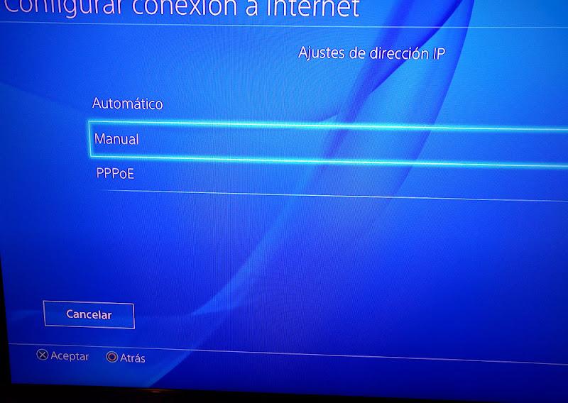 establecer dirección IP a la PlayStation