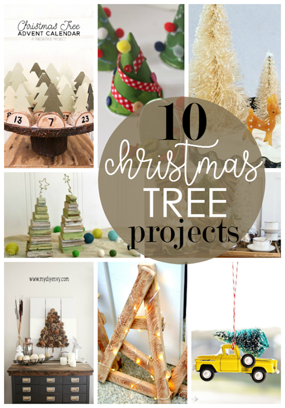 10 Christmas Tree Projects at GingerSnapCrafts.com #christmas #crafts
