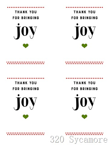 joy printable red green 4 to a page