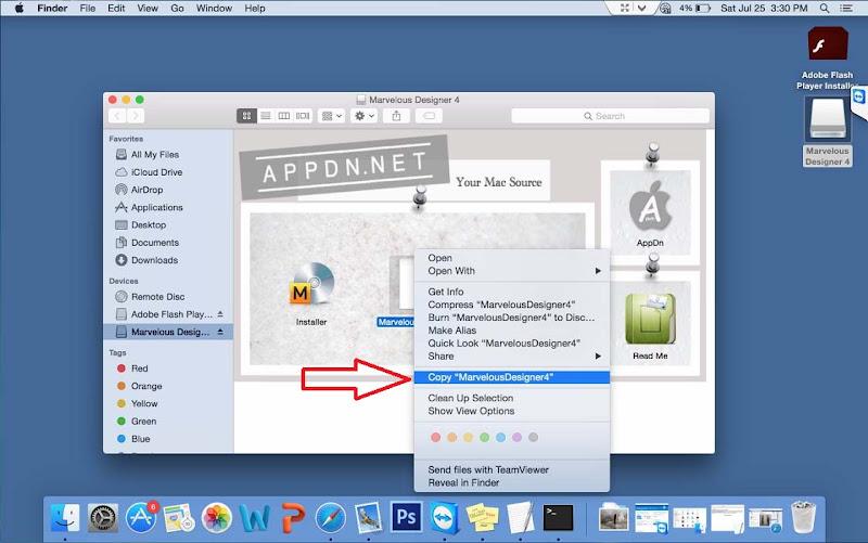 Hướng Dẫn Cài Thiết Kế 3D Marvelous Designer4 Trên Mac OS 2