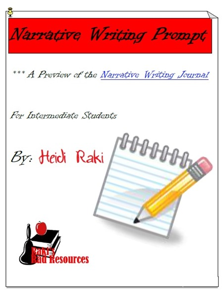 Free download - narrative writing prompt to walk you through the entire writing process. Download now from Raki's Rad Resources.