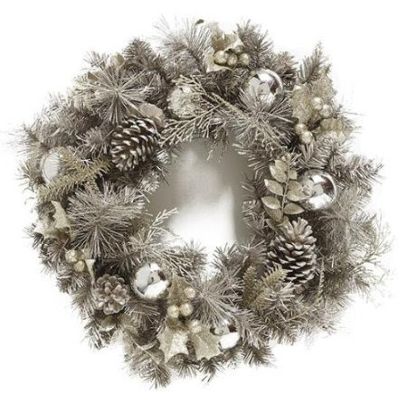Silver Snowfall Wreath