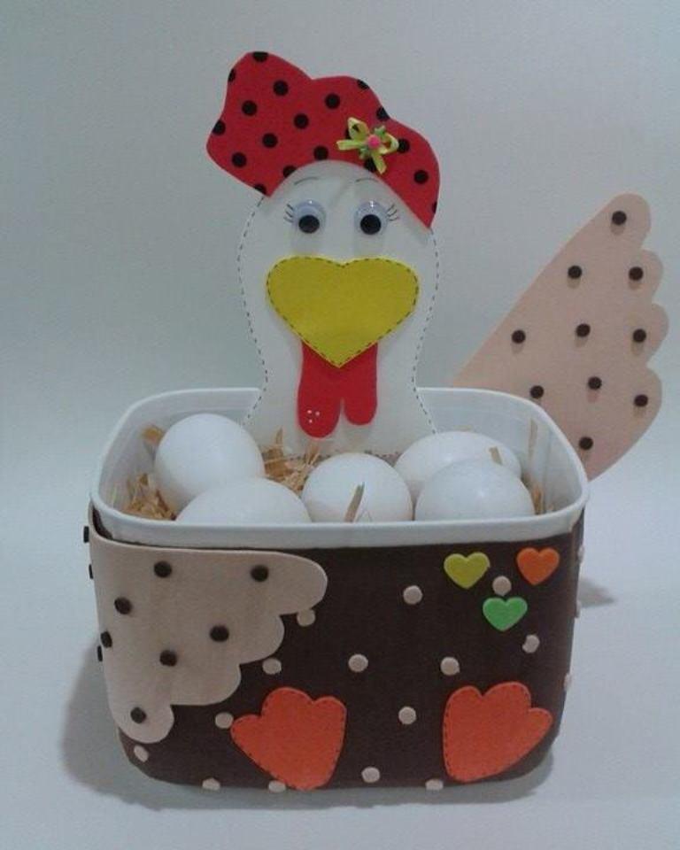 Canasta Para Huevos Manualidades.Mi Fiesta Creativa Crea Unas Lindas Gallinas Porta Huevos