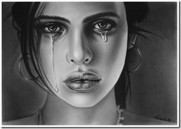 dibujos lapiz llorar y tristeza  (19)