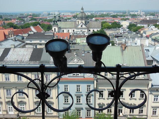 Vistas de Cracovia desde la Torre del Ayuntamiento